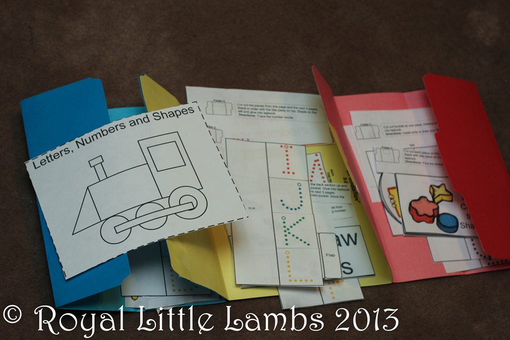 preschool lapbook pieces