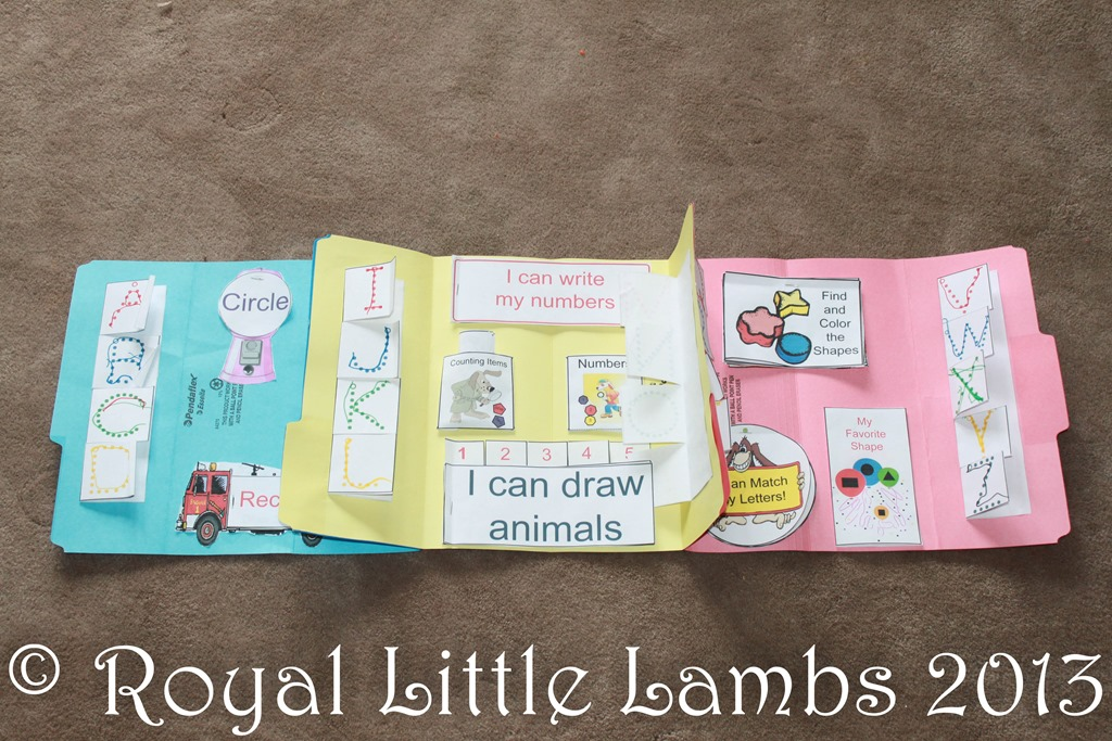 preschool lapbook