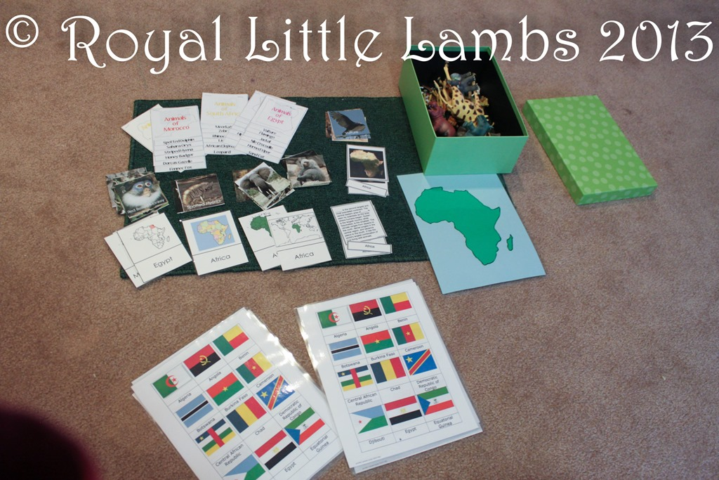 Montessori Geography Africa Continent Box