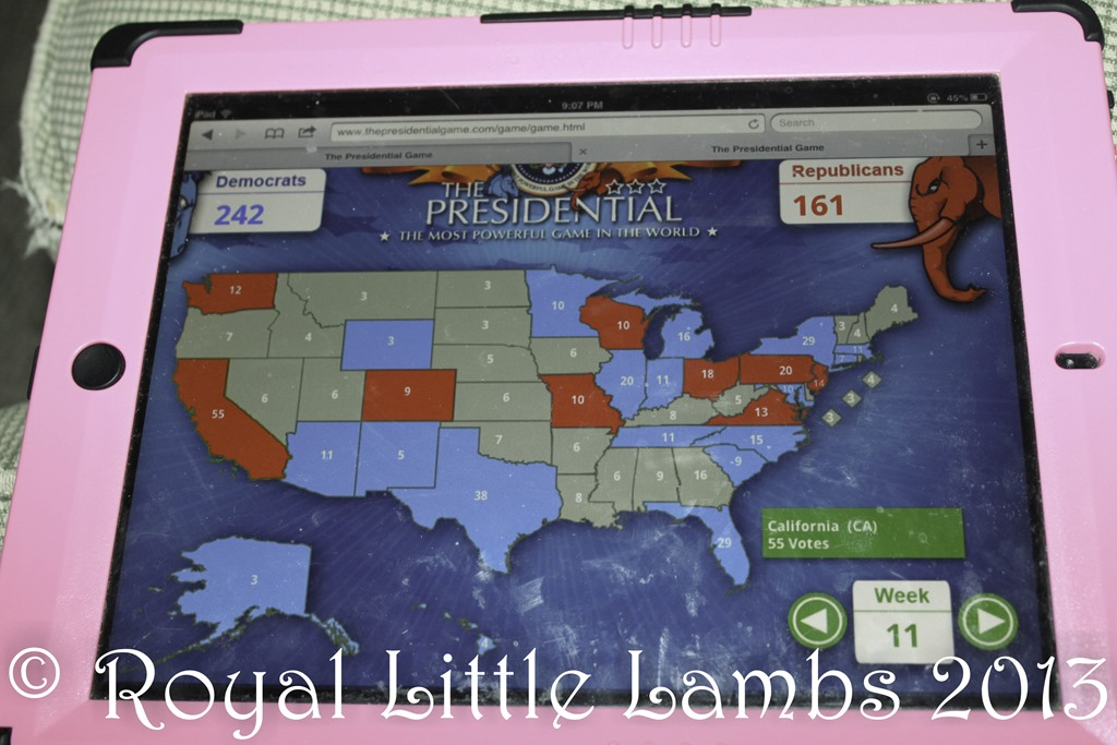 Presidential web map