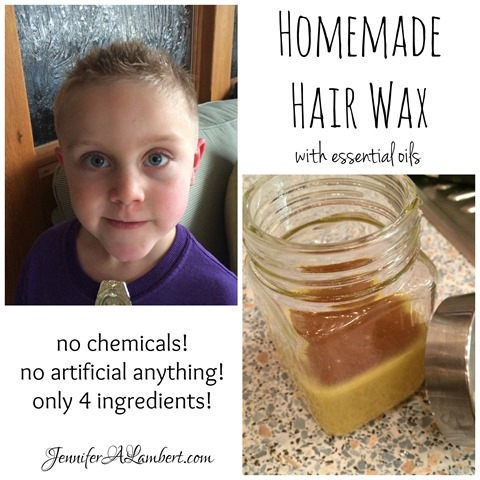Homemade Hair Wax with essential oils