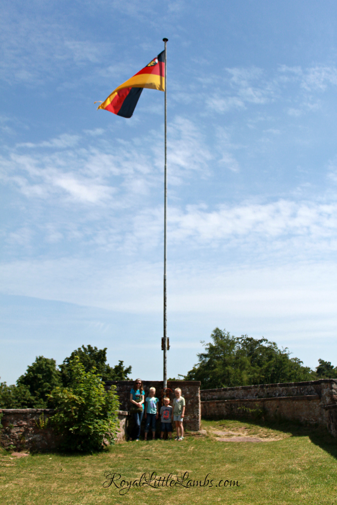 Burg Nanstein German Flag