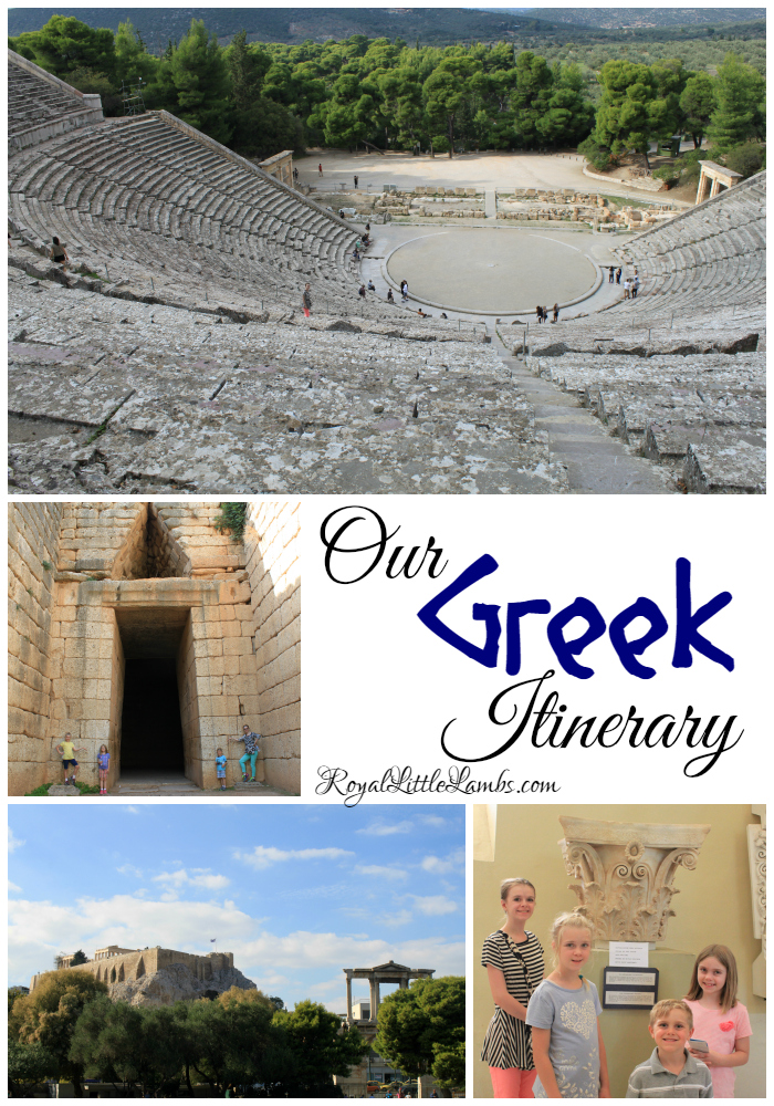 Our Greek Itinerary