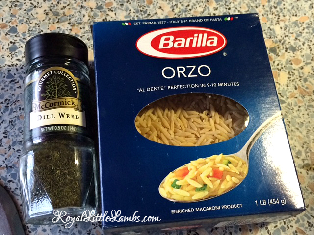 dill and orzo