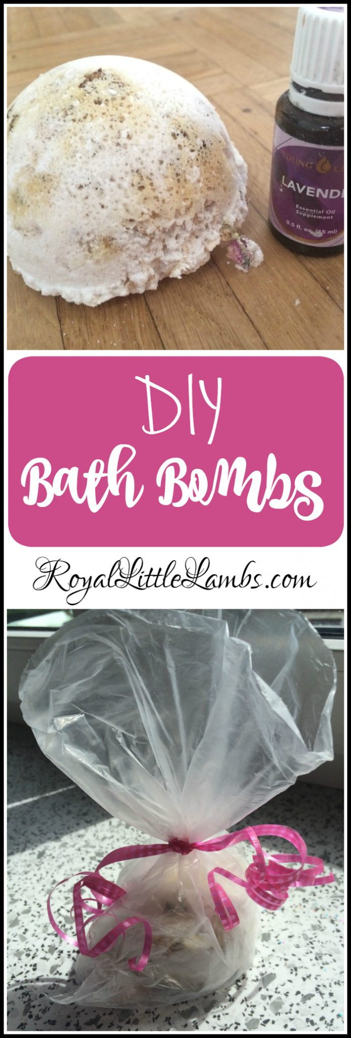DIY Bath Bombs with Oatmeal, Rose, and Lavender