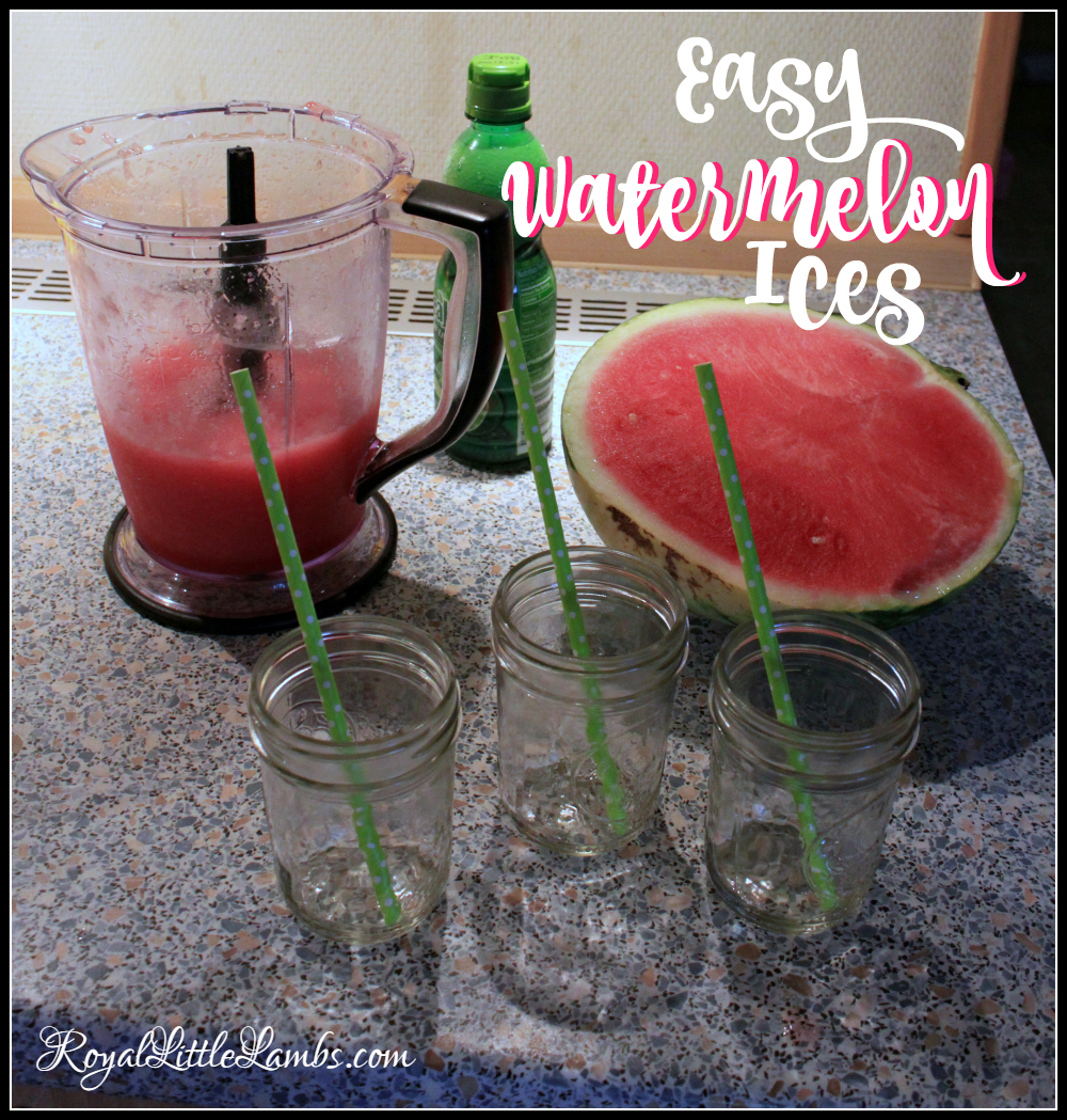 Easy Watermelon Ices