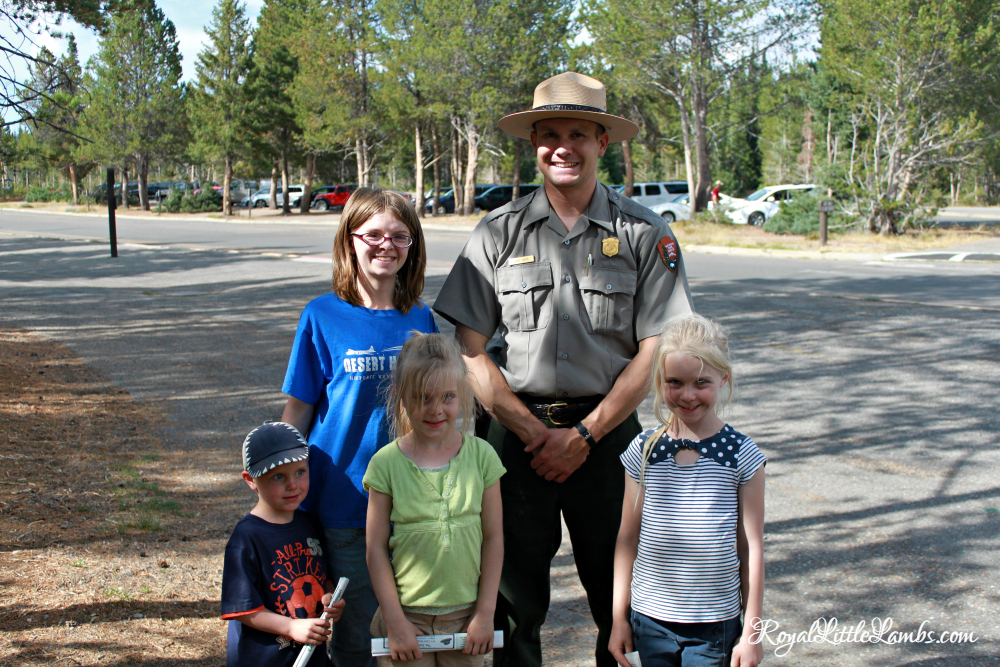Kids with Park Ranger