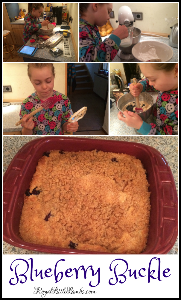 Blueberry Buckle Kids in the Kitchen
