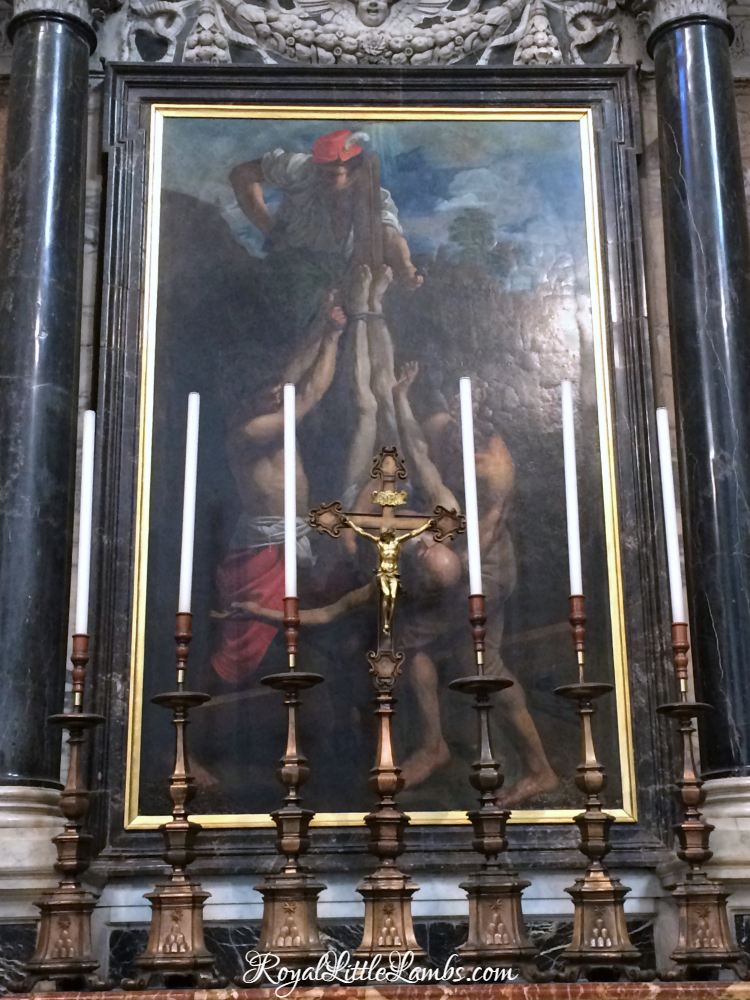 The Altar of the Crucifixion of St. Peter