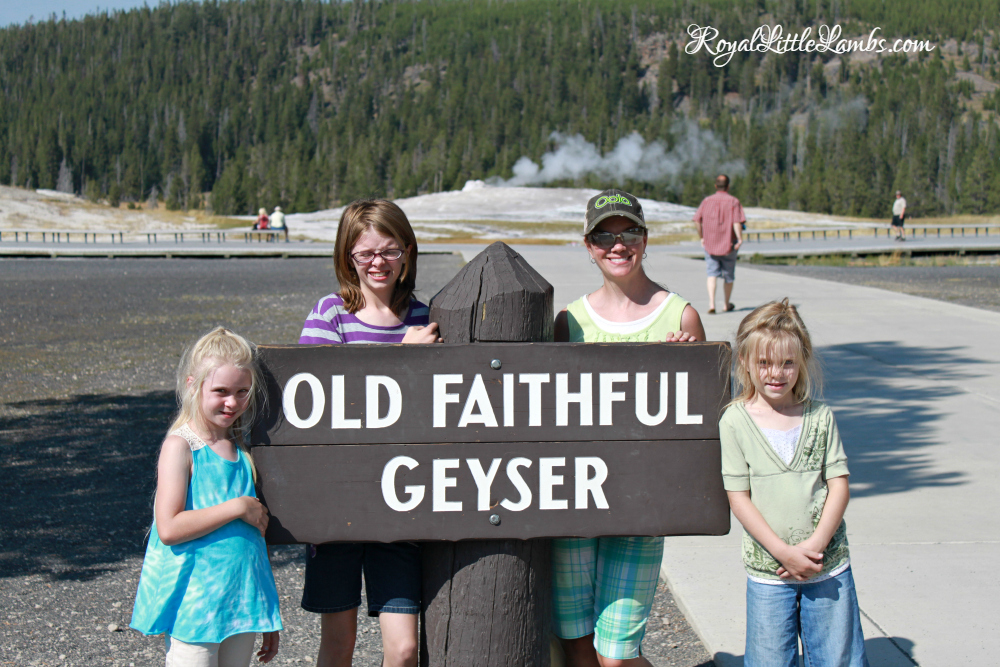 Old Faithful Geyser Sign