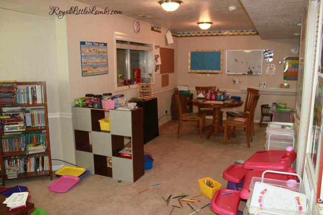 Homeschool Room in Basement