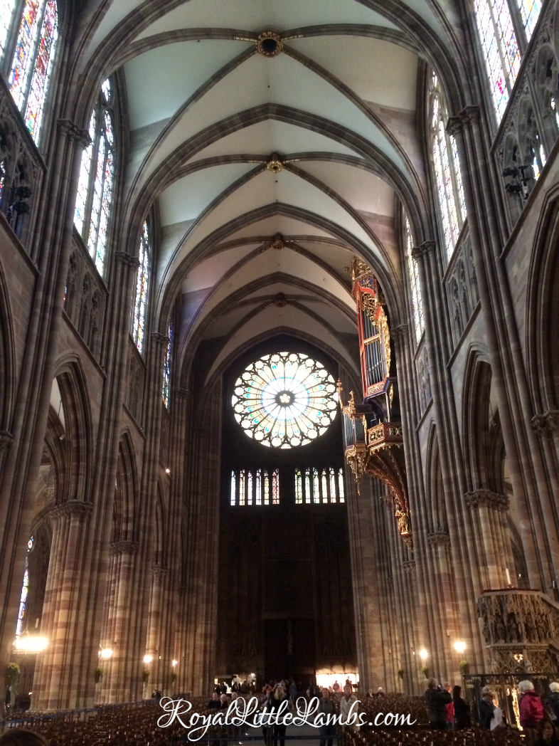 Strasbourg Cathedral Rose Window and Organ