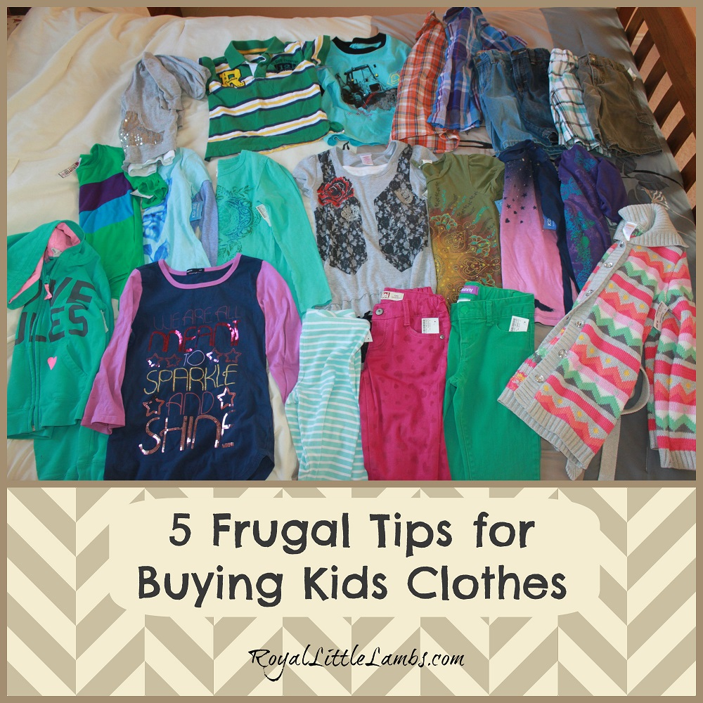 5 Frugal Tips for Buying Kids Clothes