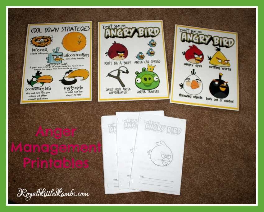 Anger Management Printables