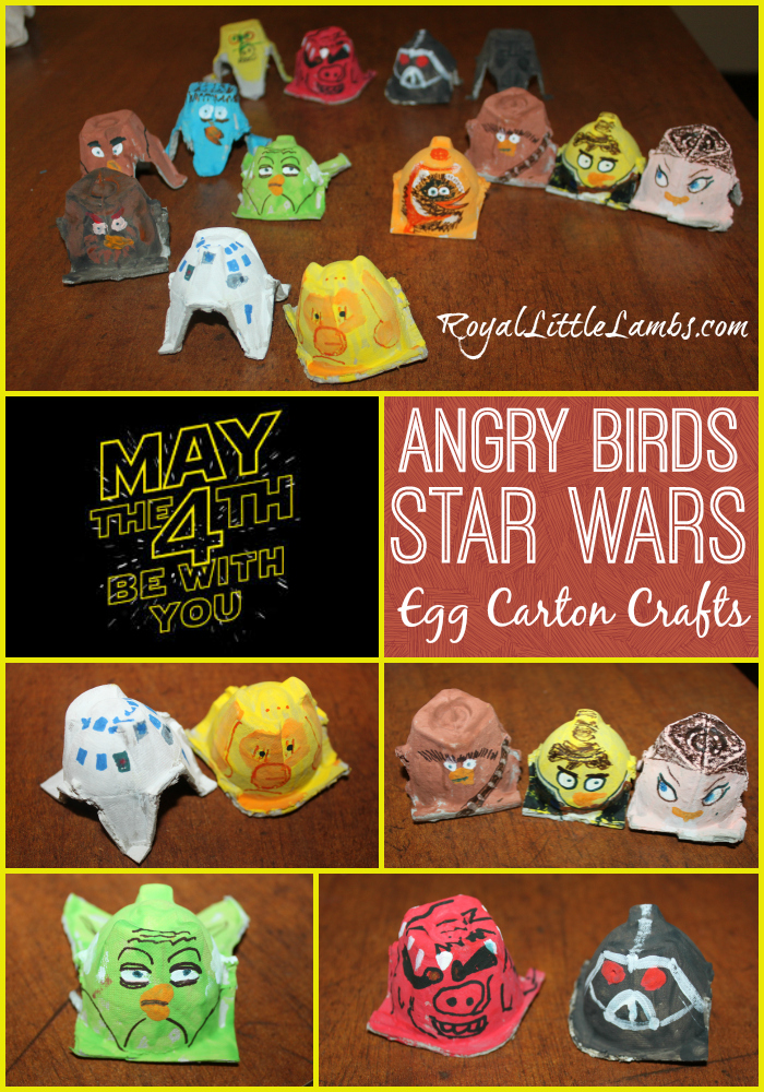 Angry Birds Star Wars Egg Carton Crafts