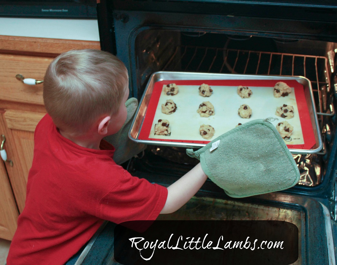 Big Boy Baking Cookies