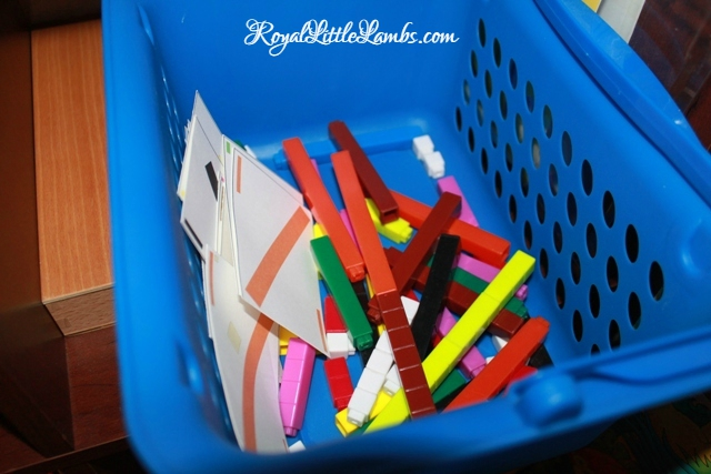 Cuisenaire Rods and Matching Cards