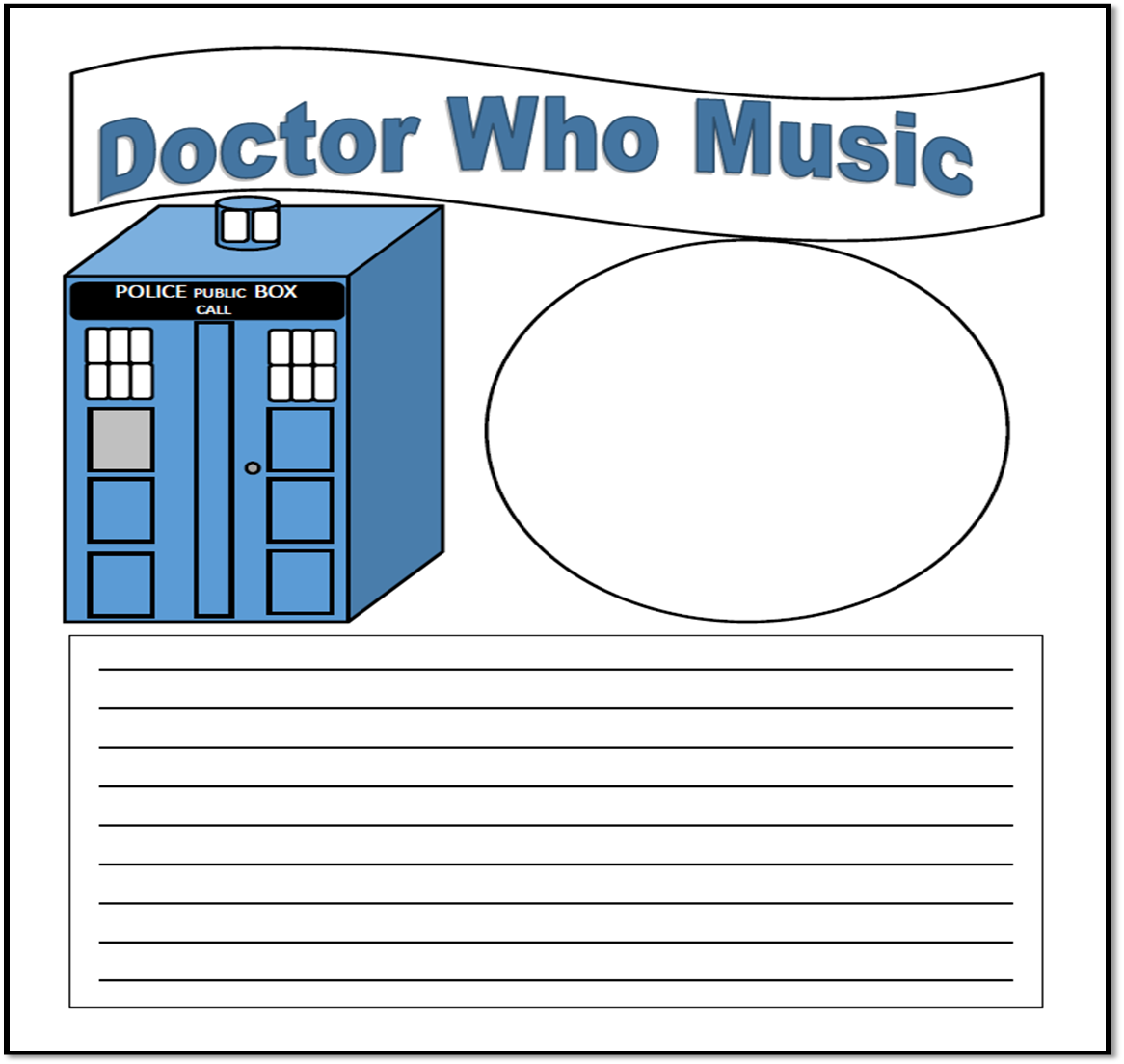Doctor Who Music Notebooking Pages