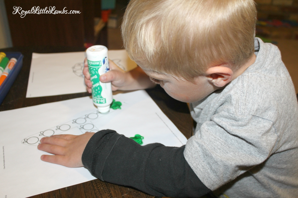 Dot Painting Letter A