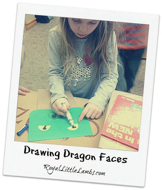 Drawing Dragon Faces for Puppets