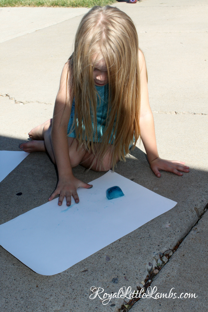 Finger Painting with Ice