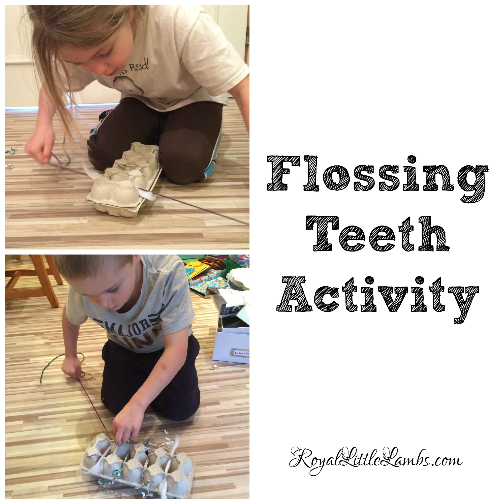 Flossing Teeth Activity