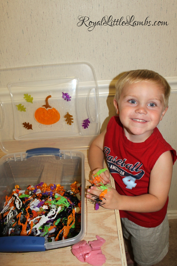 Fun with Halloween Sensory Bin