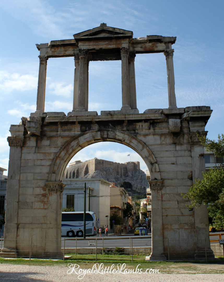 Hadrian's Arch and Acropolis