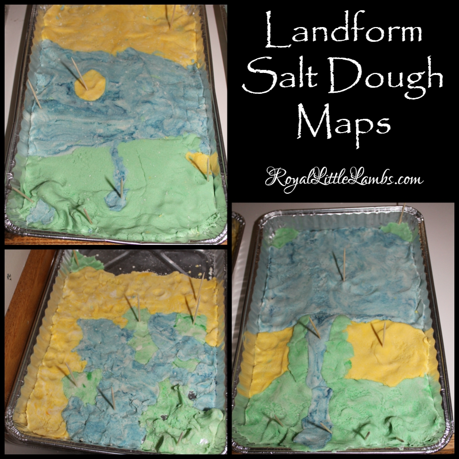 Landform Salt Dough Maps