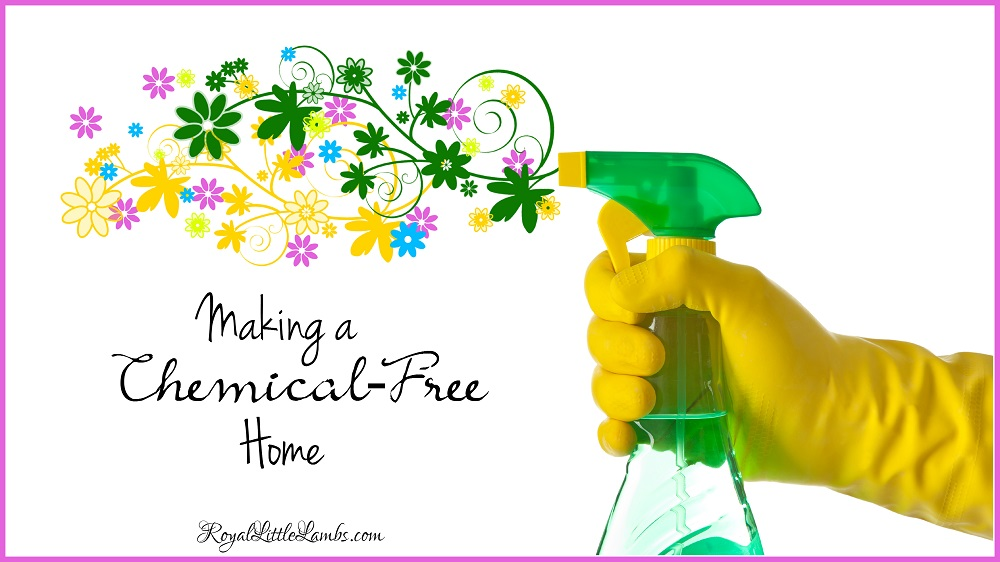 Making a Chemical Free Home for our children to grow up healthy.