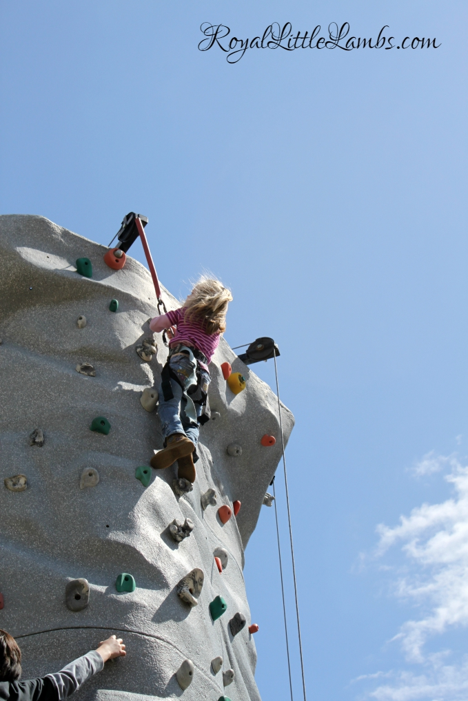 Monkey Girl Rock Climbing