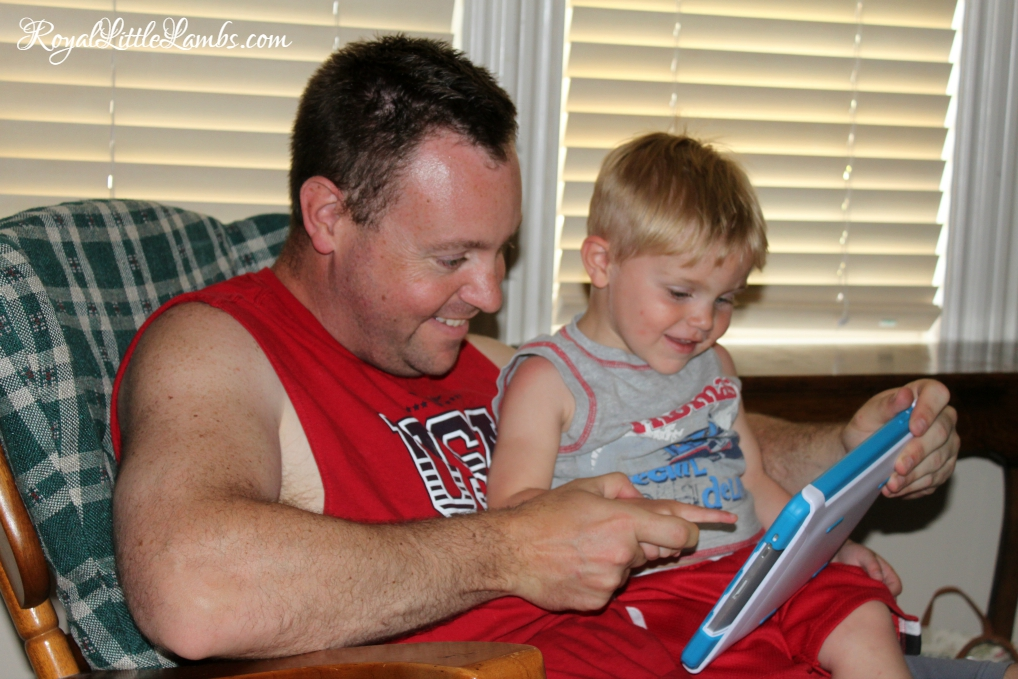 Playing the iPad with Daddy