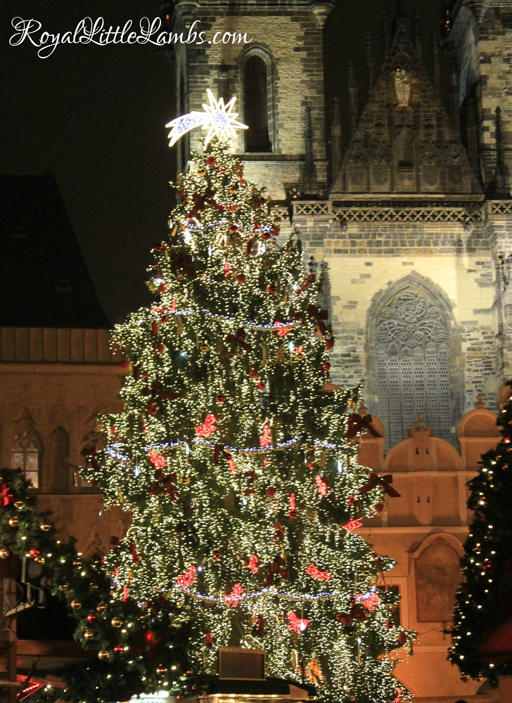 Prague Old Town Christmas Market Tree