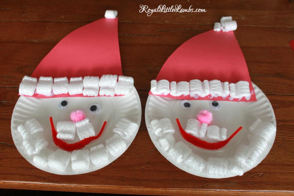 Santa Plate Craft