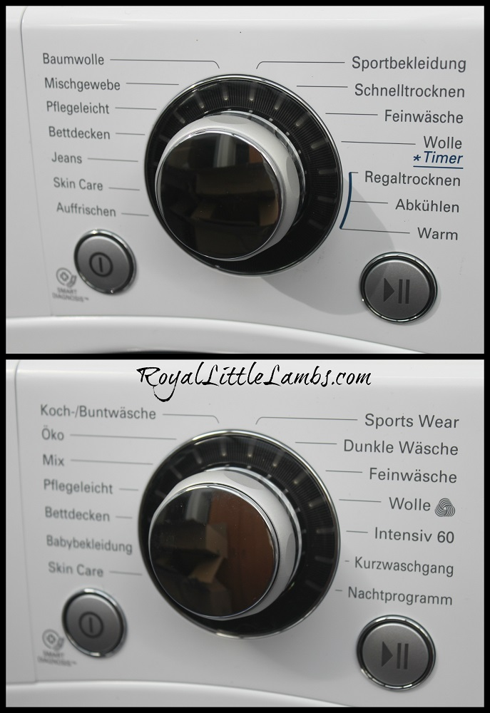 Washer and Dryer Settings