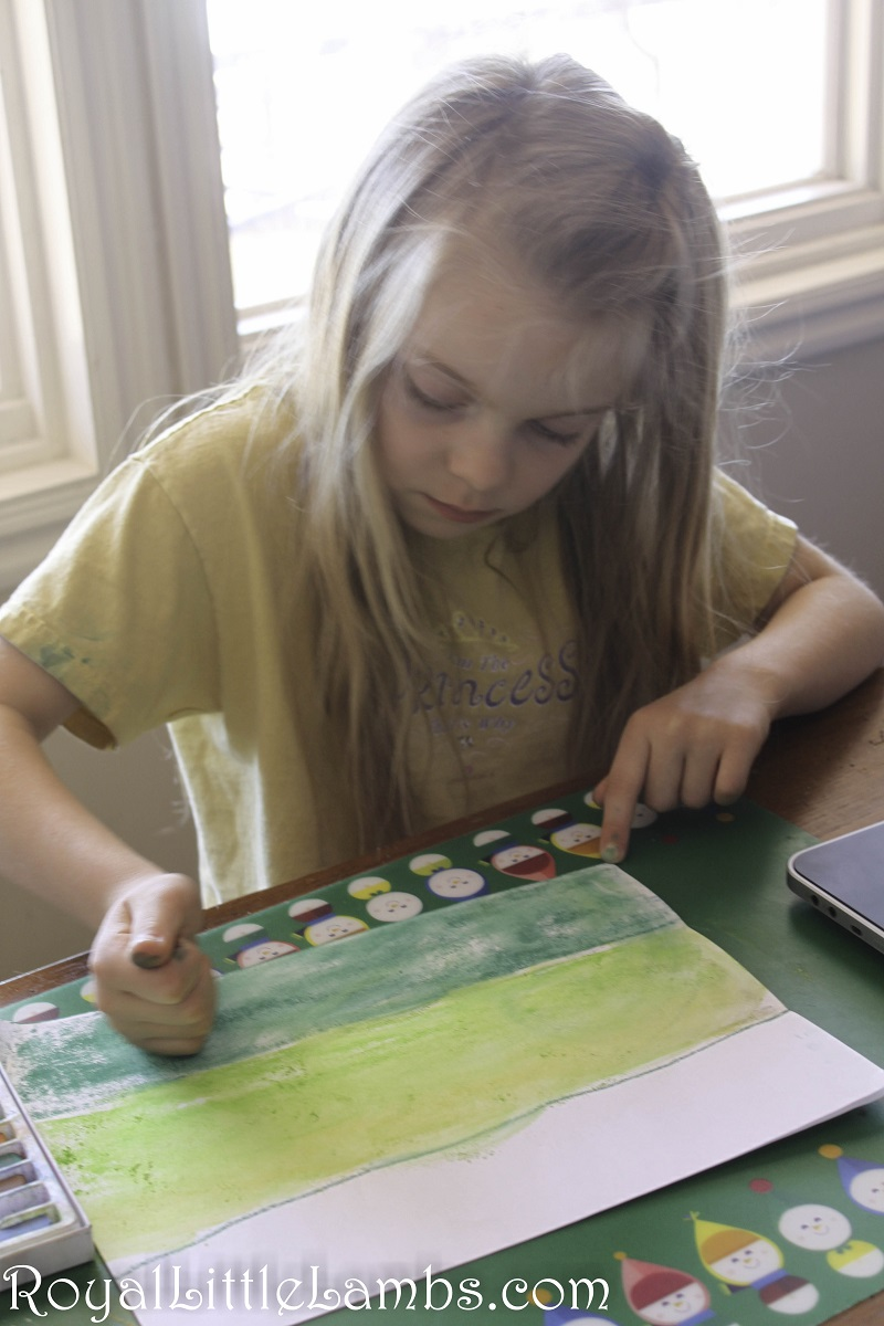 Spring pastel art with Hodgepodge